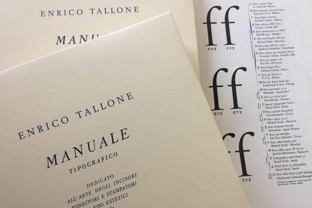 Manuale Tipografico IV di Alberto Tallone Editore